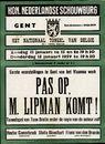Pas op, M.Lipman komt ! | Kon. Nederlandse Schouwburg, zondag 11 januari te 15 en te 19h30, donderdag 15 januari 1959 te 19h30