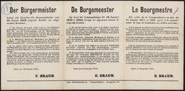 Der Bürgermeister | De Burgemeester | Le Bourgmestre.