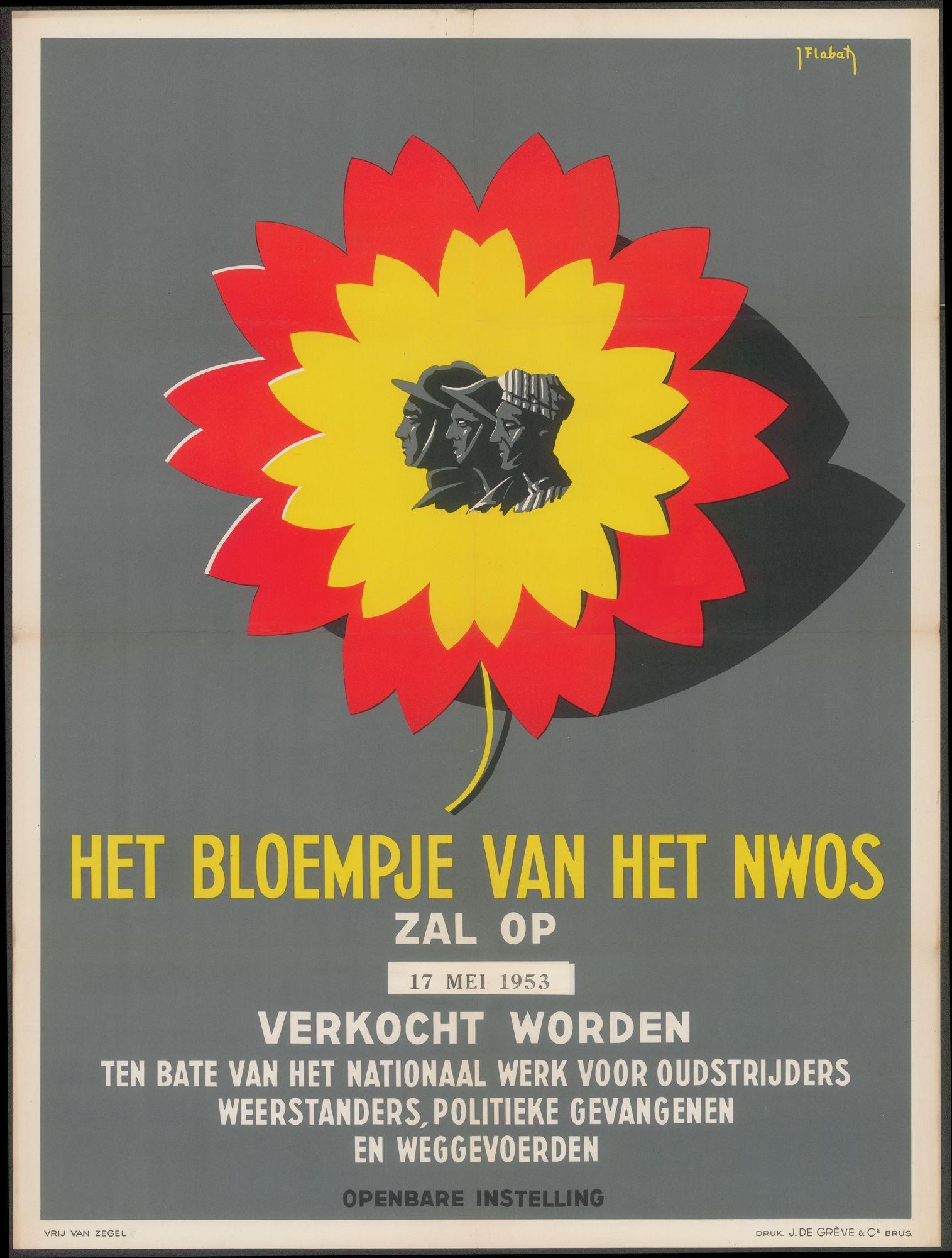 Het bloempje van het NWOS zal verkocht worden op 17 mei 1953