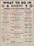 What to do in Ghent. Arranged by the Allied Welfare Officers, 8 - 16 juni 1945
