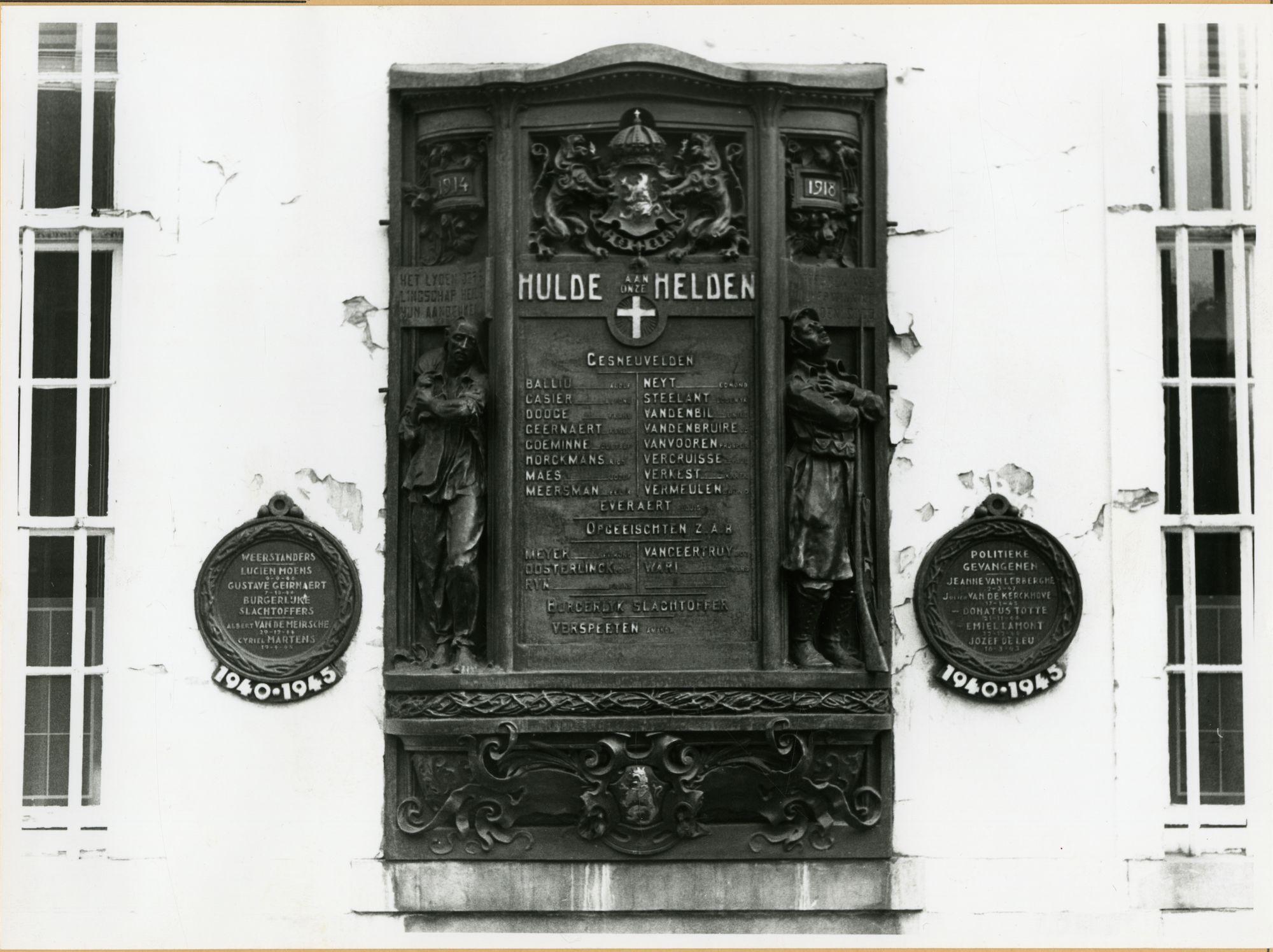 Gent: Geldmunt 19: oorlogsmonument voor de Eerste en Tweede Wereldoorlog