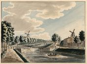 Gent: Coupure, Rozemarijnbrug en Wispelberg (rechts)