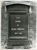 Gent: Koning Albertlaan: Gedenkplaat, 1979