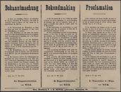 Bekanntmachung   Bekendmaking   Proclamation.