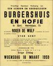 Vrijwillige openbare verkoop van een schoon en goedgelegen burgershuis en hofje te Gent, Heirnislaan, nr.75, Gent, 18 maart 1959
