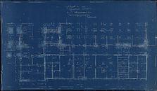 Gent: Citadelpark: bouwplan van het Feestpaleis (Palais de l'Horticulture et des Fêtes) - Plan 4 - plattegrond van de feestzaal (Plan Salles des Fêtes), niveau tuin (niveau jardin), 1913