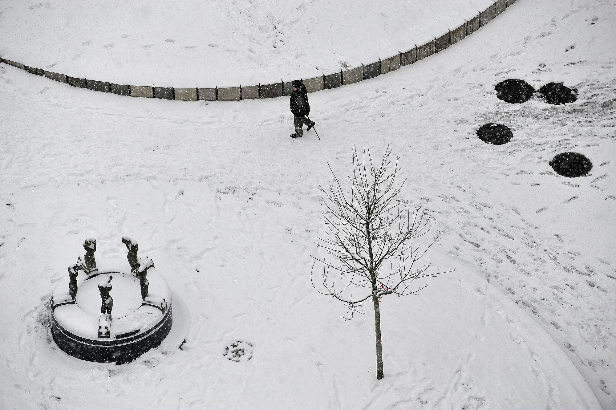Sneeuw in Gent 15