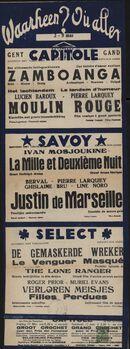Waarheen? Où aller? Filmvertoningen in Capitole, Savoy, Select, Gent, 3 - 9 mei