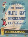 Grote Voetbalmatch tussen: Politie Gent en deze van Düsseldorf op het terrein van A.R.A. La Gantoise, Gentbrugge, op donderdag 5 april 1956