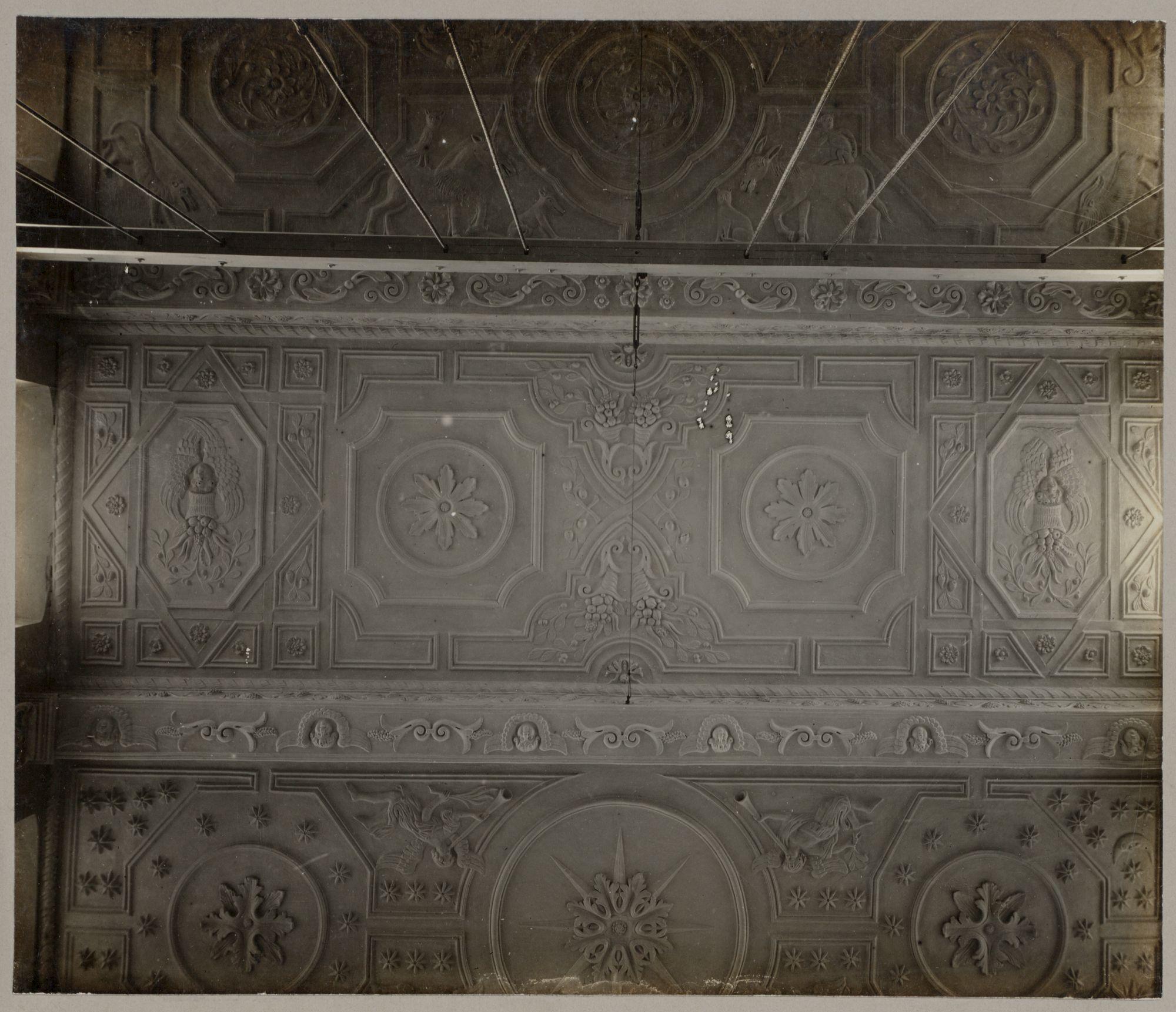 Gent: Voldersstraat: plafond oude bibliotheek, Klooster der Jezuieten, 1918