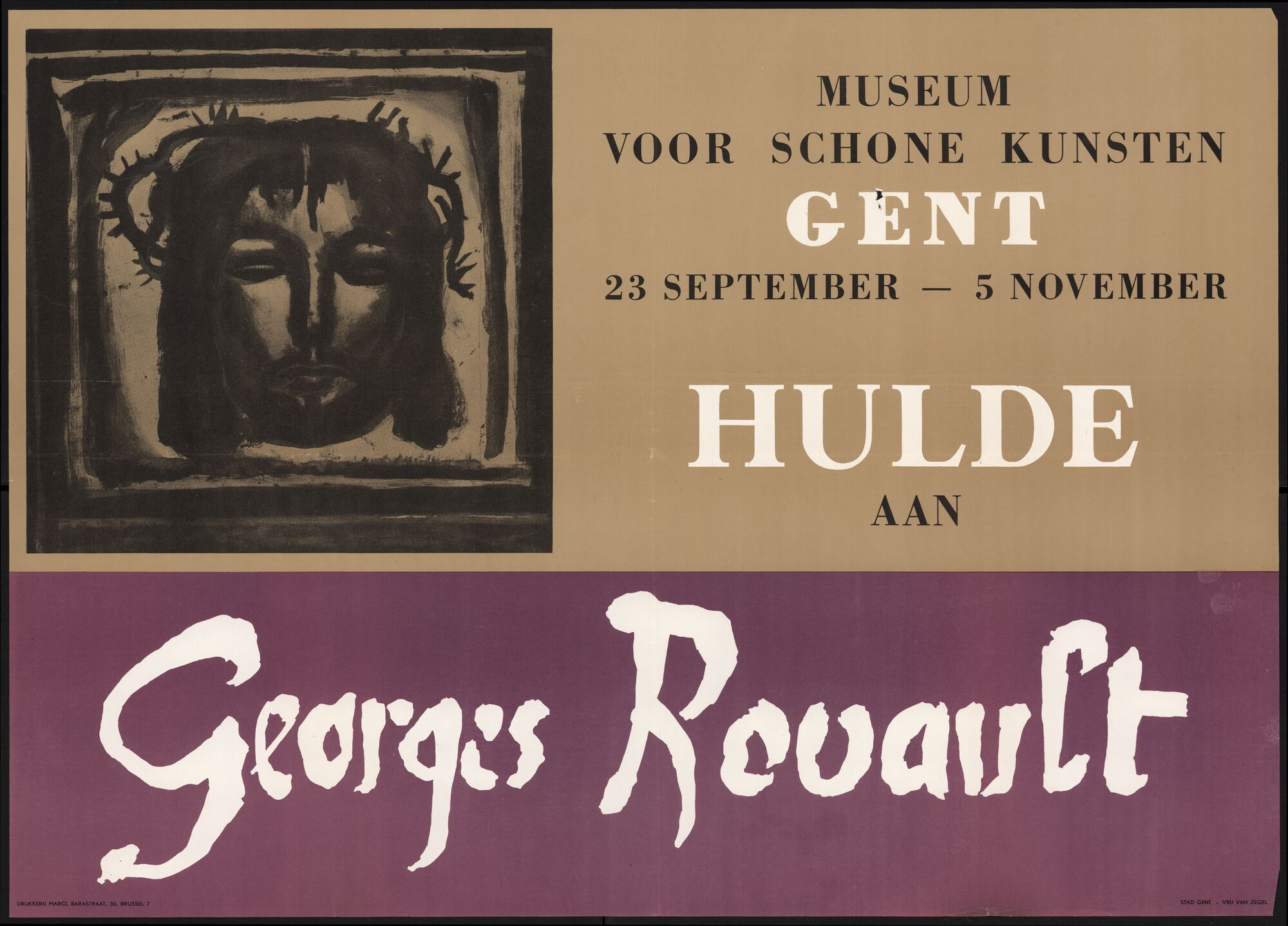 Museum voor Schone Kunsten Hulde aan Georges Rouault, Gent, 23 september - 5 november 1961