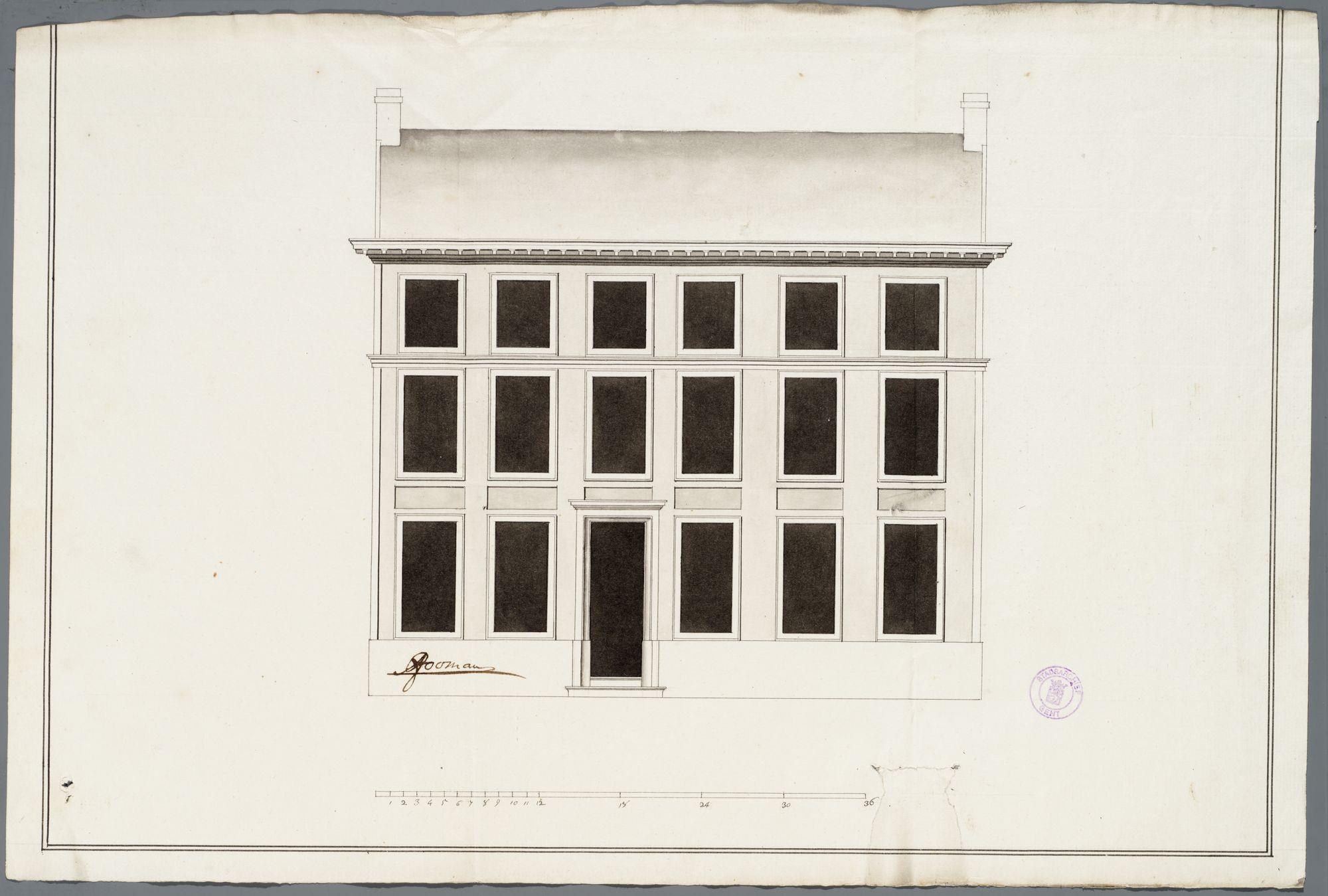 Gent: Nederpolder, 1784: opstand gevel