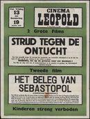 Strijd tegen de ontucht (film 1), Het beleg van Sebastopol (film 2), Cinema Leopold, Gent, 13 - 19 oktober 1950