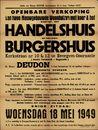 Openbare verkoop van twee nieuwgebouwde woonhuizen met koer & hof waarvan een handelshuis en een klein burgershuis, Kerkstraat, nrs. 10 & 12 te Evergem-Doornzele (Statie Terdonck - Bagatelle), Evergem, 18 mei 1949