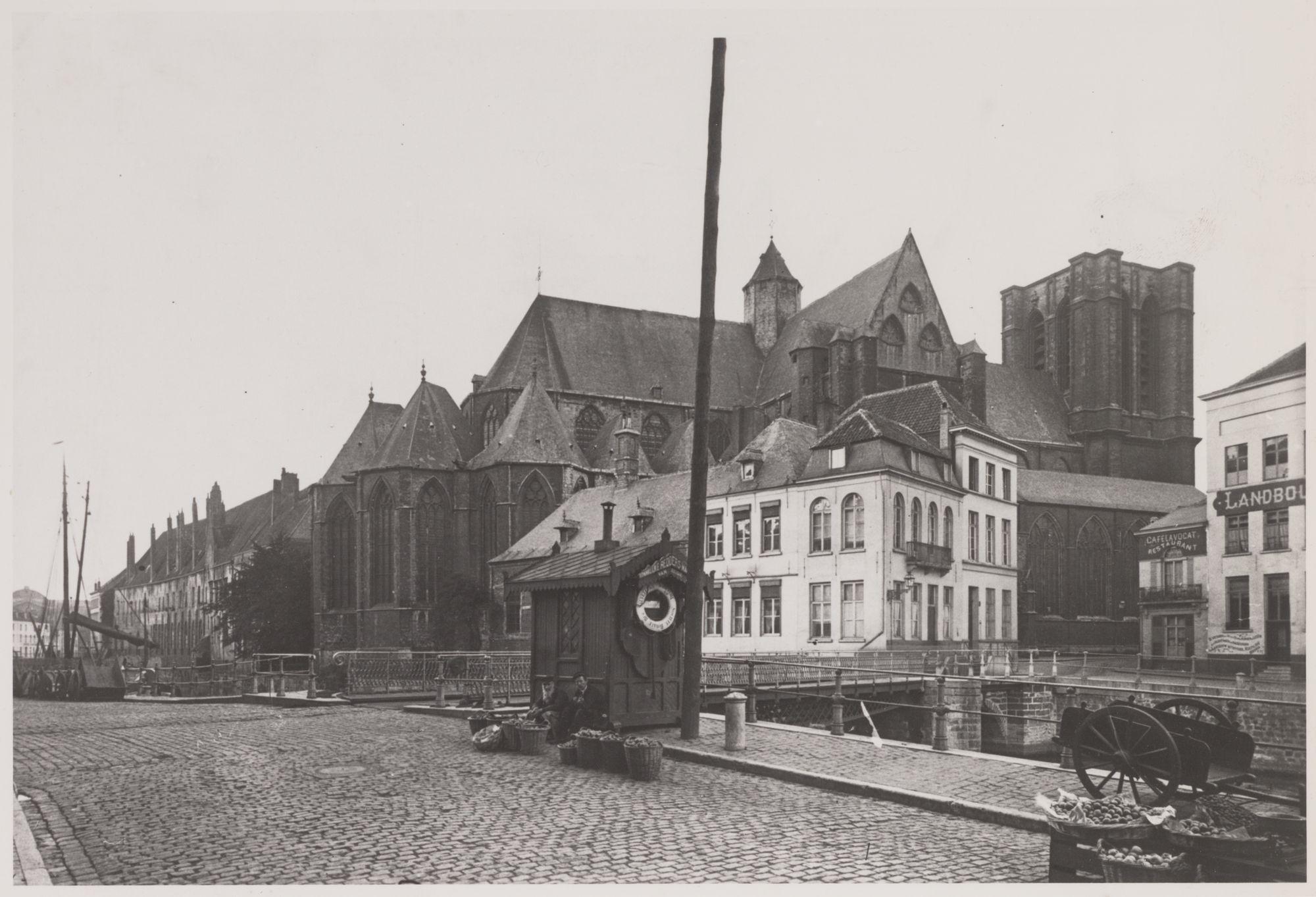 Gent: Sint-Michielskerk en de oude Sint-Michielsbrug