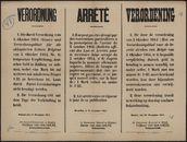 Verordnung   Arrêté   Verordening.
