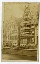 Gent: Graslei. Tolhuisje, Korenmetershuis en Huis der Vrije Schippers