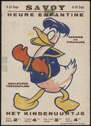 Het kinderuurtje. Gekleurde teekenfilms | Heure enfantine. Dessins en couleurs, Savoy, Gent, 8 - 14 september 1939