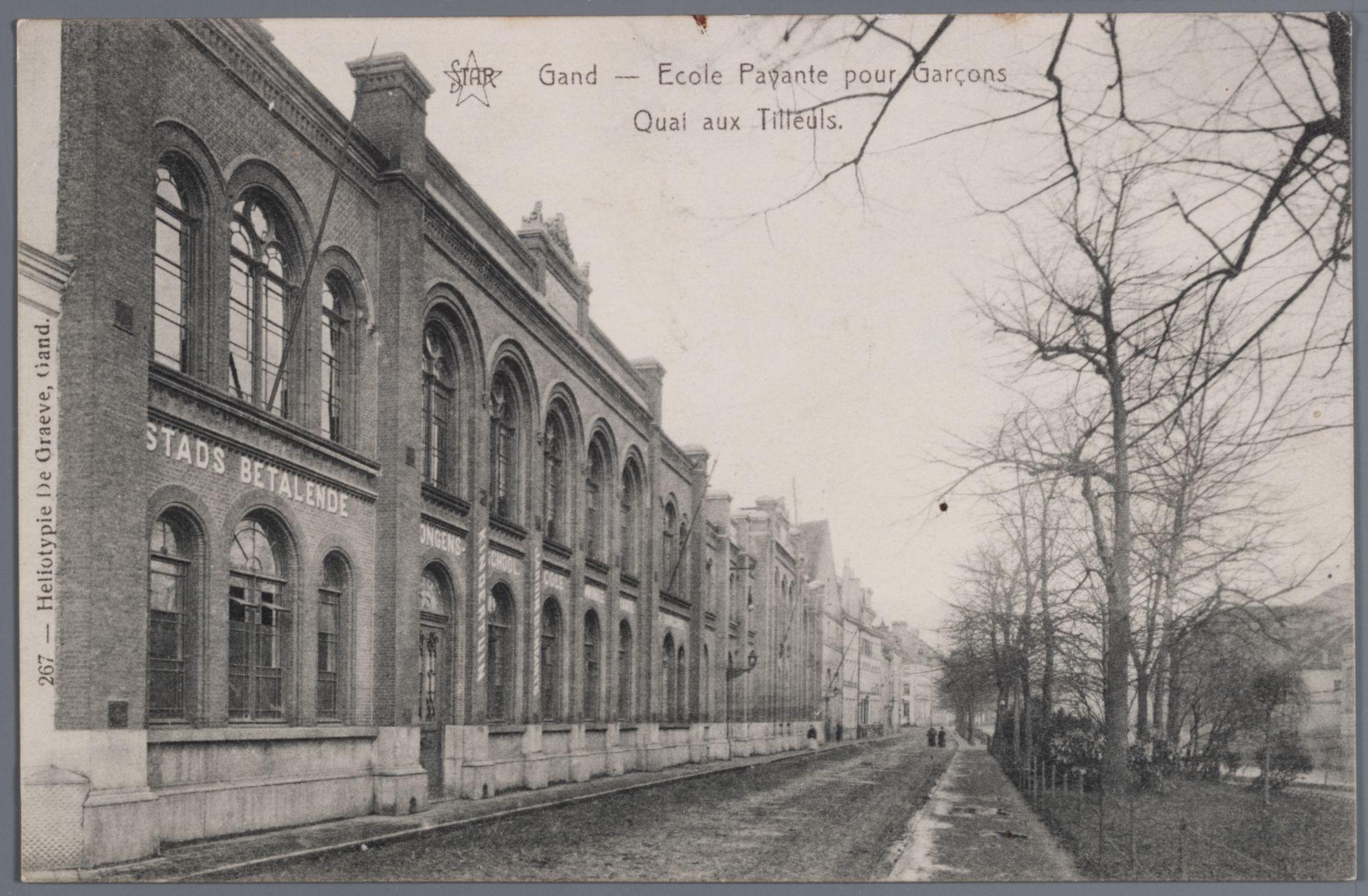 Gent: Lindenlei: stedelijke betalende jongensschool en technische school