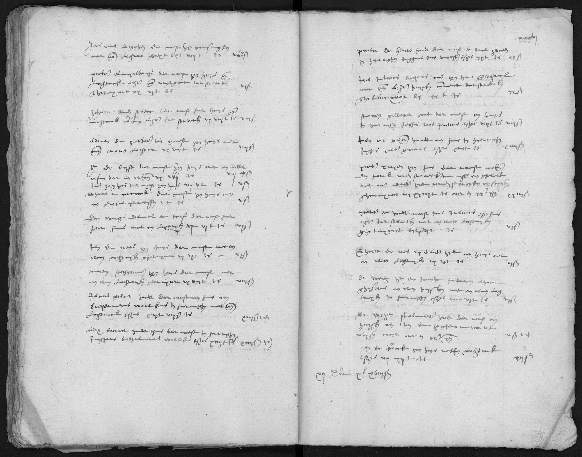 Kohier van de 20ste penning in Ninove, 1572