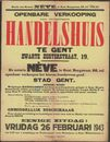 Openbare verkoop van welgelegen handelshuis te Gent, Zwartezustersstraat, nr.19, Gent, 26 februari 1943