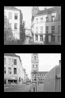 Gent: Sint-Jansstraat (nu Sint-Baafsplein), hoek Lange Kruisstraat: zicht op Belfort en Lakenhal