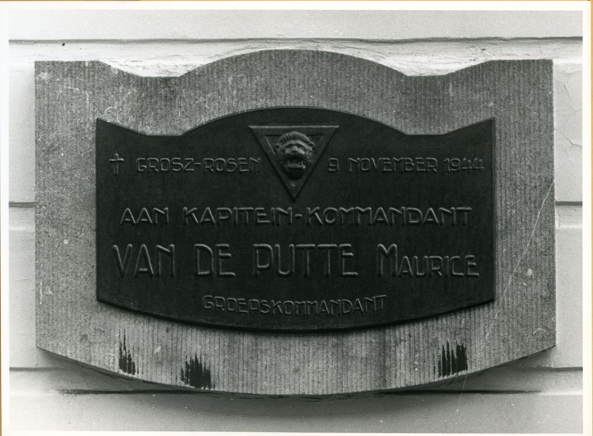 Gent: Monterijstraat 55: Gedenkplaat, 1979