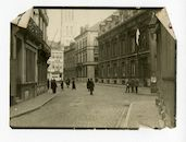 Gent: Kalandeberg 1: huis van de familie de Diesbach Belleroche - Vermeulen de Mianoye: Offiziershaus (officierencasino), 1915-1916