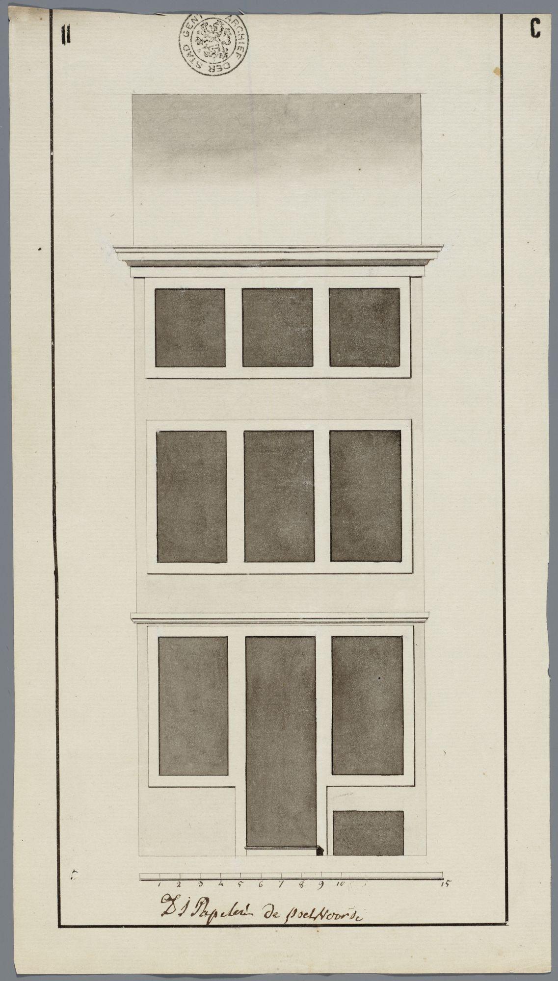 Gent: Abrahamstraat, 1793: opstand voorgevel