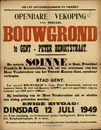 Openbare verkoop van perceel bouwgrond te Gent, Peter Benoitstraat, Gent, 12 juli 1949