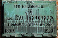 Gedenkplaat -  Paul Fredericq