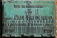 Gedenkplaat -  Paul Fredericq