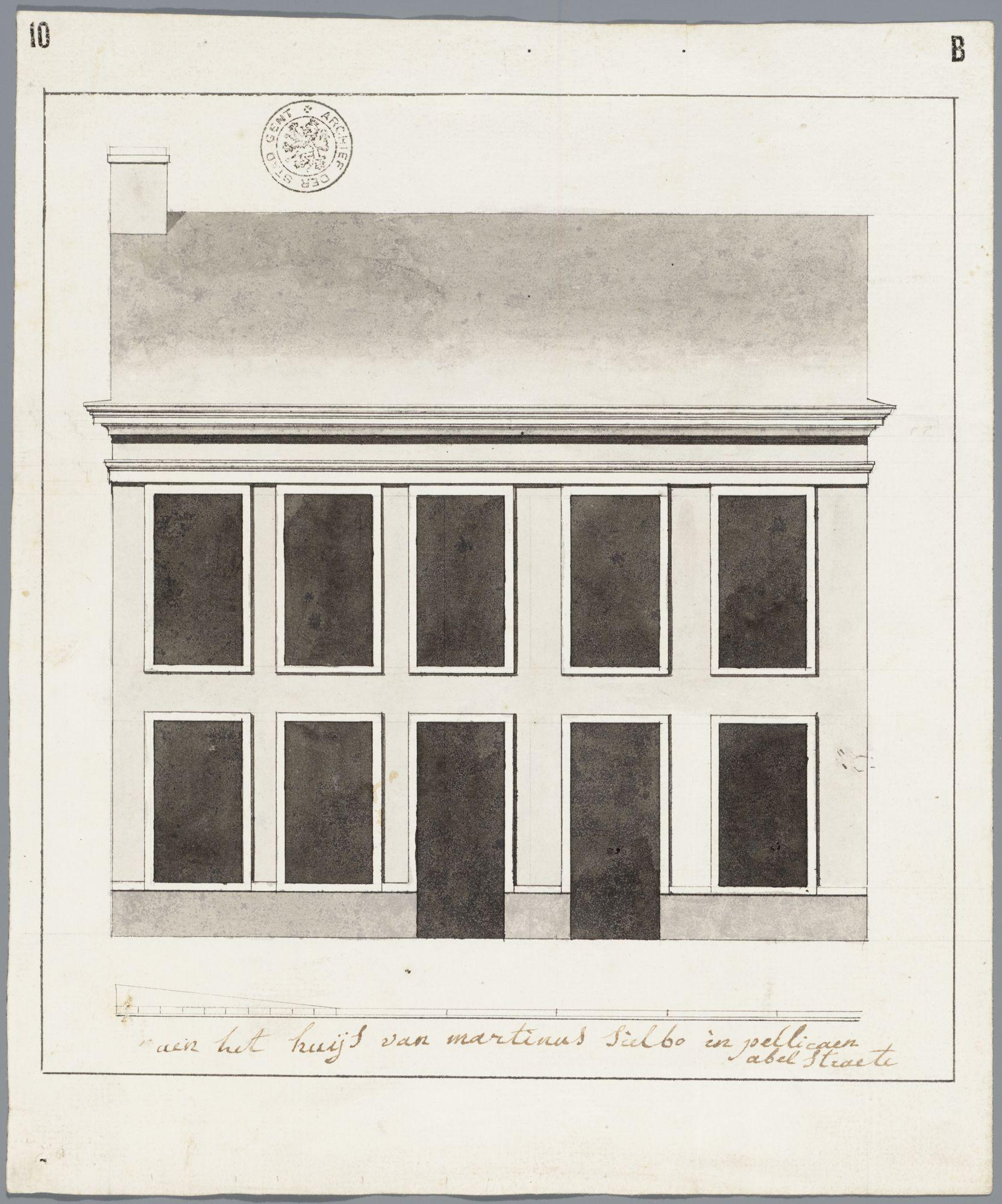 Gent: Abeelstraat, 1789: opstand voorgevel