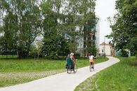 Nieuwe fietsroute Bernadettewijk