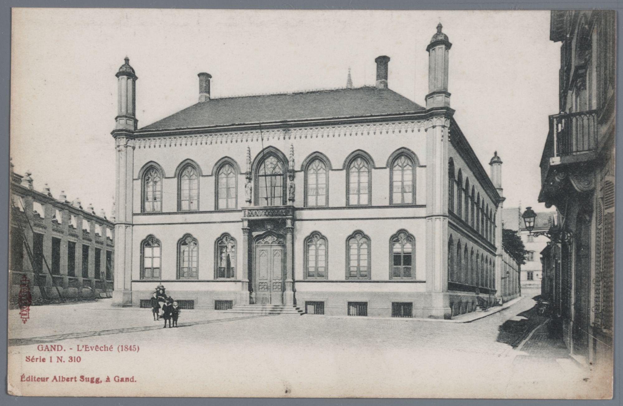 Gent: Bisdomplein: Bisschoppelijk Paleis, 1905