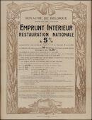 Royaume de Belgique, Ministère des Finances, Emprunt intérieur de restauration nationale à 5 %
