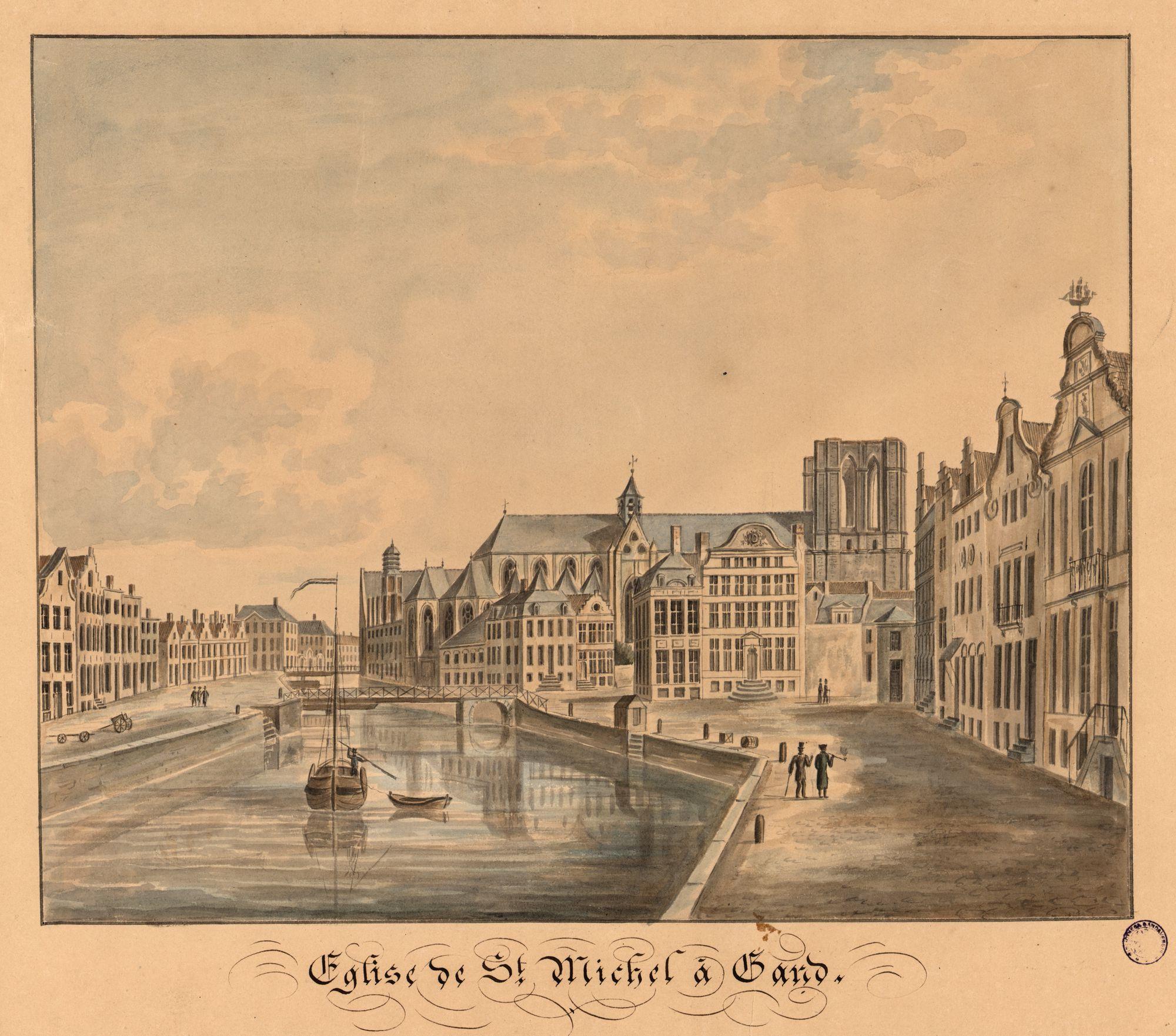 Gent: Graslei, Korenlei, Sint-Michielsbrug en Sint-Michielskerk