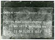 Drongen: Gavergrachtstraat 19: Gedenksteen, 1979