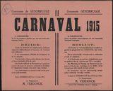 Commune de Gendbrugge, Carnaval 1915 | Gemeente Gendbrugge, Carnaval 1915.