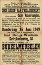 Openbare verkoop van bureelmeubelen, Kortrijksesteenweg, nr.58, Sint-Denijs-Westrem, 23 juni 1949