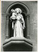 Gent: Forelstraat: Sint-Antoniuskerk: nisbeeld: Sint Antonius, 1979