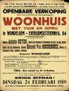 Openbare verkoop van een schoon en best gelegen woonhuis met tuin en oprij te Wondelgem, Evergemsesteenweg, nr. 64, Gent, 24 februari 1959
