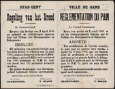 Stad Gent, Regeling van het brood | Ville de Gand, Reglementation du pain.