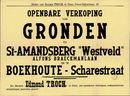 """Openbare verkoop van gronden te Sint-Amandsberg """"Westveld"""", Alfons Braeckmanlaan en te Boekhoute - Scharestraat, Gent, 28 april 1959"""