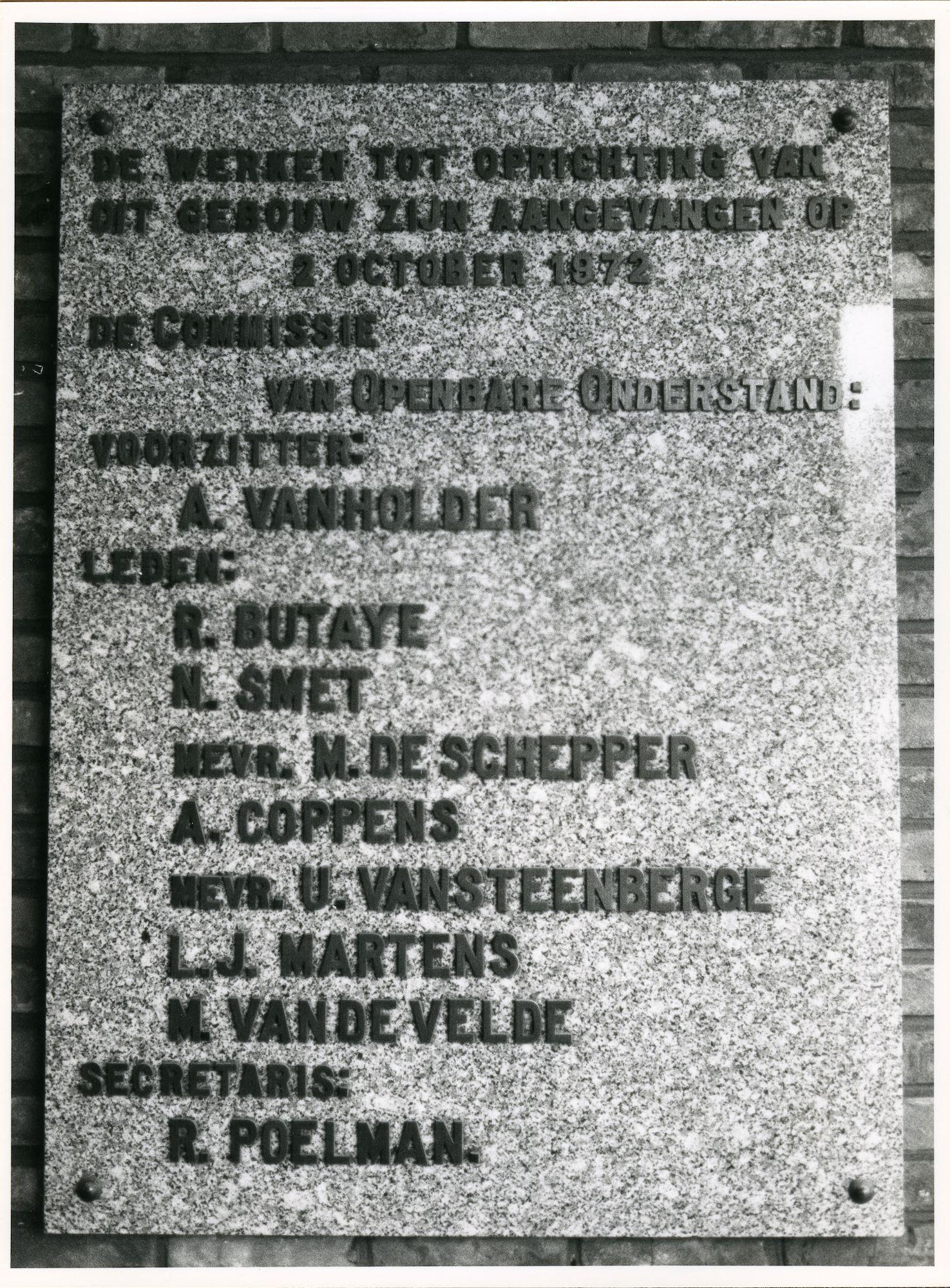 Sint-Amandsberg: Antwerpsesteenweg: Gedenksteen, 1980