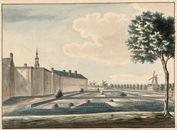 Gent: het Rasphuis en Ekkergem, gezien vanaf de Coupure