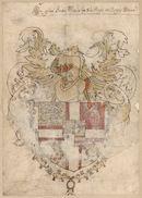 Wapen van Christiaan III (1503-1559), koning van Denemarken (1534-1559) en Noorwegen (1537-1559), met het keten van de ridderorde van Onze-Lieve-Vrouw of de Olifant, die toebehoorde aan Christiaan II als grootmeester