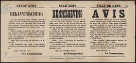 Stadt Gent, Bekanntmachung | Stad Gent, Kennisgeving | Ville de Gand, Avis.