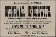 Gemeentebestuur Ledeberg, Openbaar onderwijs, Gemeentelijke Onderwijsgestichten