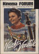 [Die Nacht in Venedig] | Een nacht te Venetië, Kinema Forum, Gent, 7 - 13 mei 1943